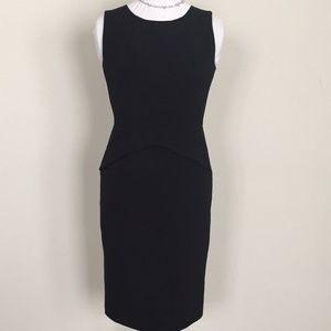 Calvin Klein black sheath peplum dress